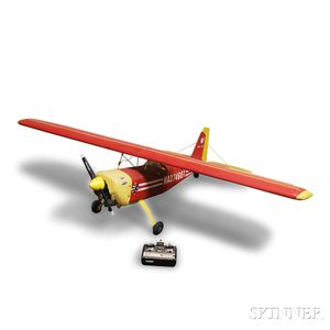 Large Remote Control Balsa USA Citabria Aerobatic Pro Airplane