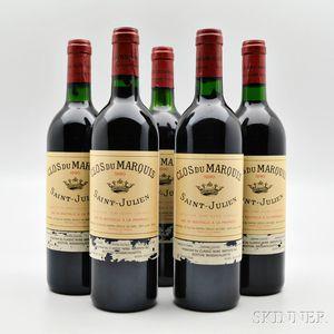Clos du Marquis 1990, 5 bottles