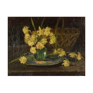 American School, 19th Century  Daffodils