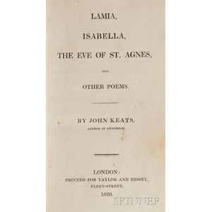 Keats, John (1795-1821)   Lamia, Isabella, the Eve of St. Agnes, and Other Poems