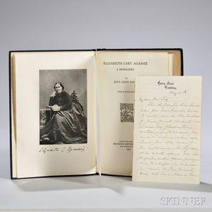 Paton, Lucy Allen (1865-1951) Elizabeth Cary Agassiz, a Biography