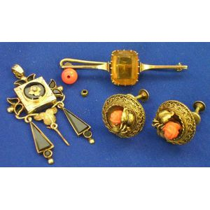 Small Group of Period Jewelry