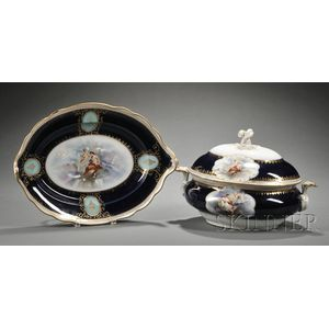 Vienna Porcelain Covered Tureen and Platter