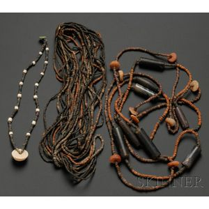 Four Pre-Columbian Beaded Necklaces