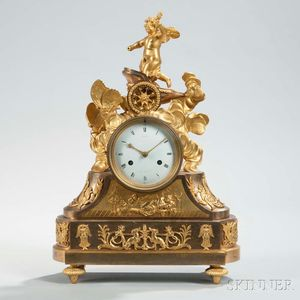 Gilt Ormolu-mounted Mantel Clock by Dieudonne Kinable