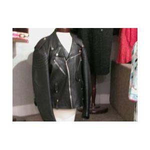 Alan Bilzerian Black Leather Motorcycle Jacket.
