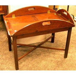 Georgian Mahogany Butlers Tray Table.