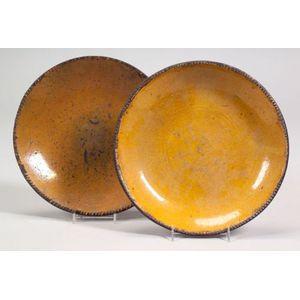 Two Redware Pie Plates