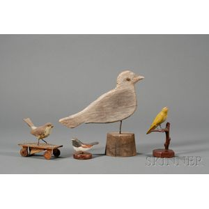 Four Small Bird Figures