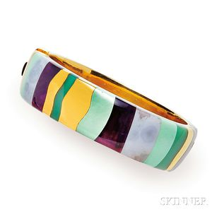 18kt Gold Gem-set Bracelet, Tiffany & Co.