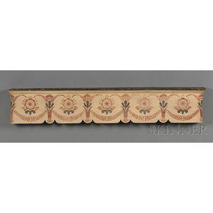 Stencil-decorated Wooden Valance