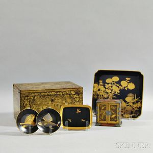 Six Asian Lacquered Items