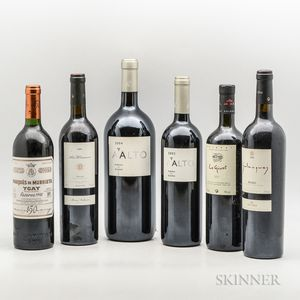 Mixed Spanish Wines, 1 magnum5 bottles