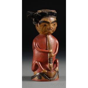 Northwest Coast Carved Wood Shaman Figure