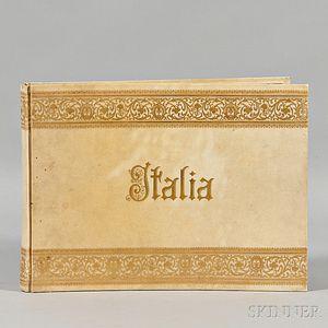 Italian Photo Album, Grand Tour, 19th Century.