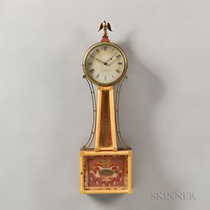 "Elnathan Taber Mahogany Patent Timepiece or ""Banjo"" Clock"