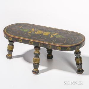 Oval Painted Footstool
