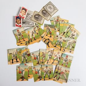 Group of Mostly Mecca Cigarette Baseball Cards