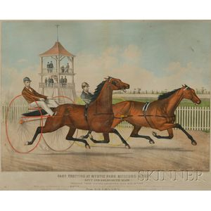Haskell and Allen, publishers (American, 19th Century)      FAST TROTTING AT MYSTIC PARK MEDFORD MASS. Lucy and Goldsmith Maid.