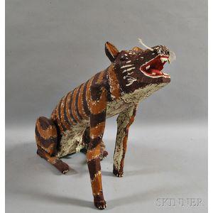 Onis Woodard Carved and Painted Chupacabra