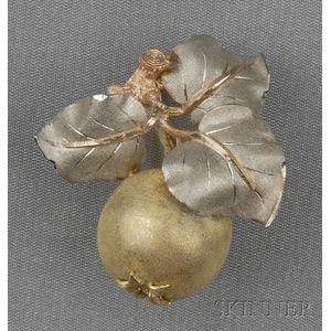 18kt Tricolor Gold Brooch, Buccellati