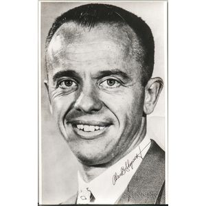 Project Mercury 7, Alan Shepard, Signed Portrait Photograph [and] Photographs of Other Events, Including a Parade in his Honor.