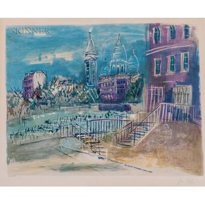 Jean Dufy (French, 1888-1964)      View of Montmartre