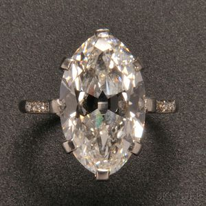 Art Deco Platinum and Diamond Ring, Cartier