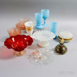 Twenty Assorted Glass Items