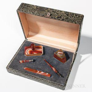 Boxed Agate Desk Set