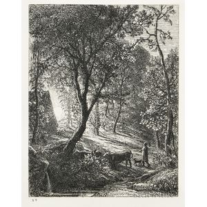 Samuel Palmer (British, 1805-1881)      The Herdsman