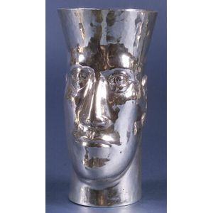 Artisan Crafted Sterling Figural Vase
