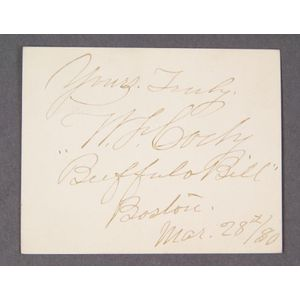 Cody, William F. ``Buffalo Bill