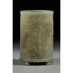 Chinese Jade Brush Pot