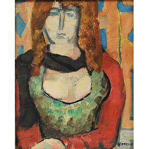 Gerrit Hondius (American, 1891-1970)      Black Scarf