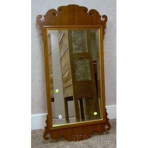 Chippendale-style Mahogany Mirror.