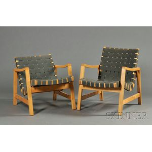 Pair of Scandinavian Design Lounge Chairs