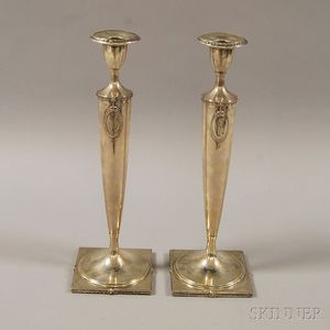 Pair of American Weighted Candlesticks