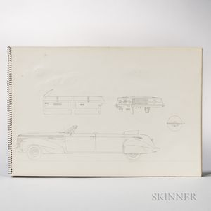 Burch, George M. (1894-1988) Sketchbooks with Drawings of Car Designs, mid-20th Century.