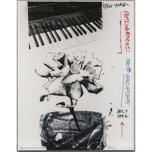 Robert Rauschenberg (American, 1925-2008)      New York Philharmonic 150th Anniversary, Dec. 7 1992