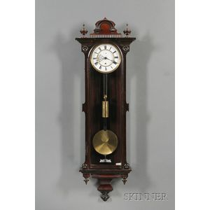 Rosewood Vienna Regulator Wall Clock by Gustav Becker