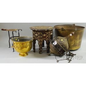 Five Assorted Wood and Metal Decorative Items