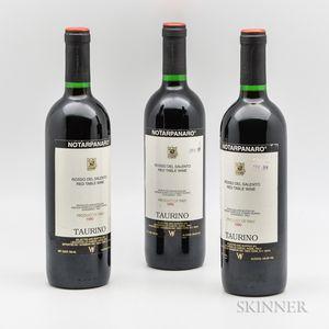 Taurino Notarpanaro 1990, 3 bottles