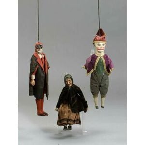 Three Continental Wood and Composition Puppets
