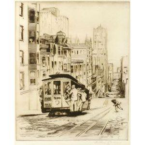 Arthur W. Palmer (American, 1913-1982)  The Streets of San Francisco.