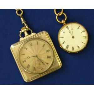 Stauffer Pocket Watch and a Brevet Silver-Cased Pocket Watch