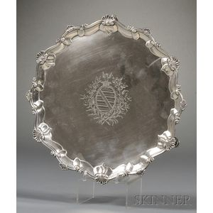 Late George II Silver Salver