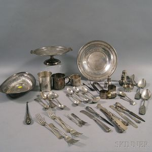Group of Assorted Sterling Silver Flatware and Tableware
