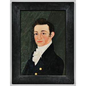 Benjamin Greenleaf (Massachusetts/New Hampshire, 1769-1821)      Portrait of A.W. Thayer of Boston