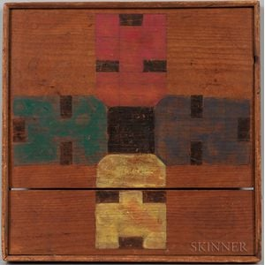 Paint-decorated Pine Parcheesi Board